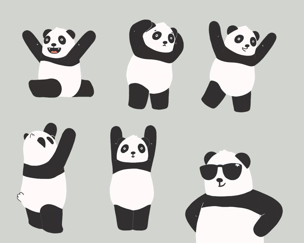 Panda-posturas