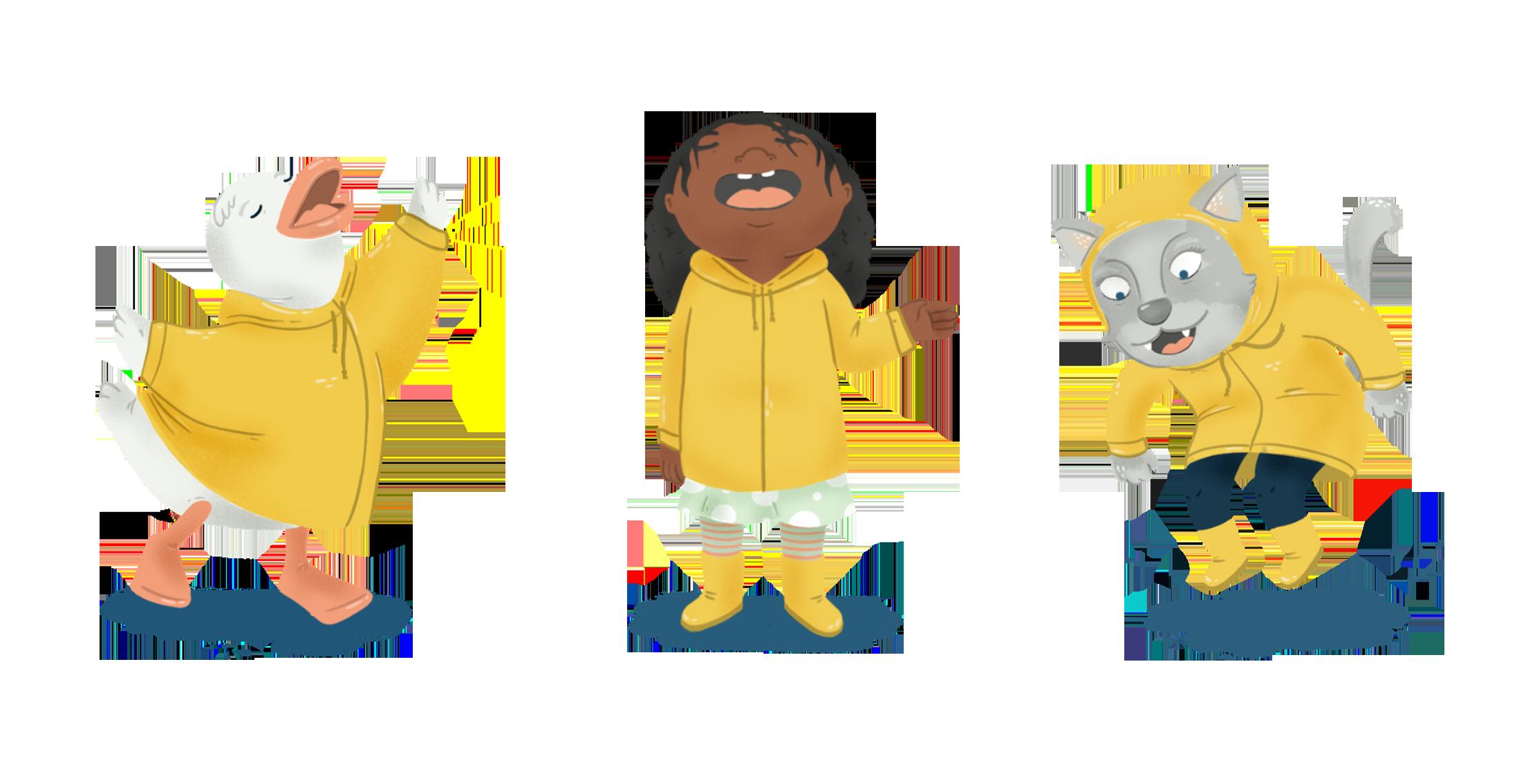 Rain-characters